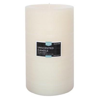 "Threshold™ Unscented Cream  7x4"" Pillar Wax Candle"