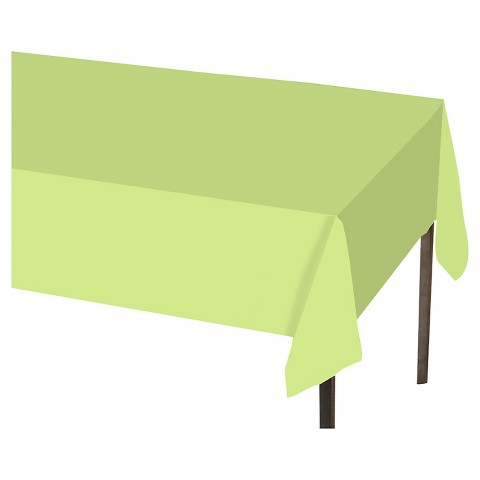 "Spritz™ Solid Tablecovers 54""x108"" Light Green 1 ct"