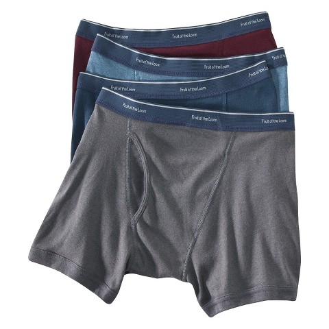 Fruit of the Loom® Men's Low Rise Boxer Briefs 4-Pack - Assorted Colors
