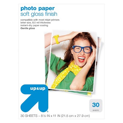 Semiglass Photo Paper 8.5x11 30 ct - up & up™