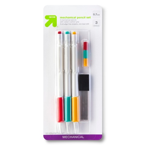 up & up™ 0.7MM Mechanical Pencil  Starter Set - 3 ct