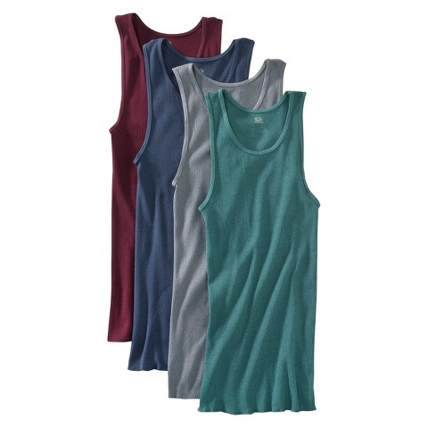 Fruit of the Loom® Men's A-Shirts 4-Pack - Assorted Colors