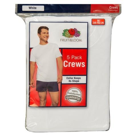 Fruit of the Loom® Men's 5Pk Crewneck Tee - White