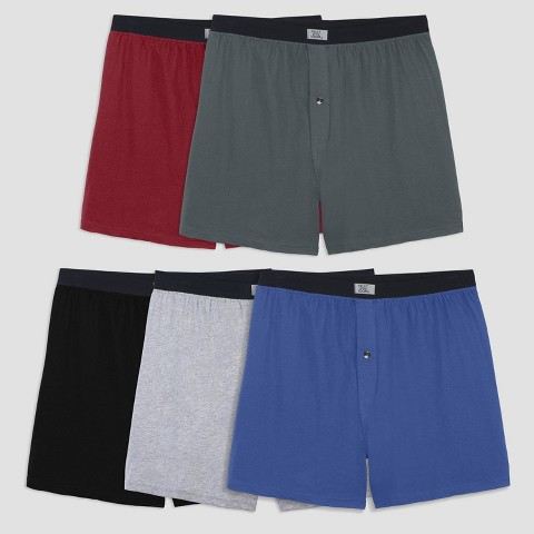 Fruit of the Loom® Men's 5pk Boxers - Assorted and Varied Colors
