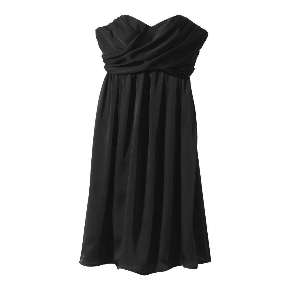 TEVOLIO Women's Plus-Size Satin Strapless Dress - Ebony