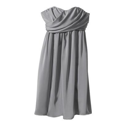 TEVOLIO™  Women's Satin Strapless Dress - Neutral Colors