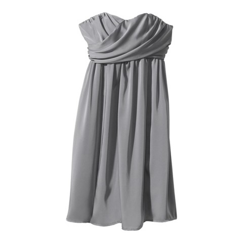 Women's Satin Strapless Bridesmaid Dress Neutral Colors - TEVOLIO&#153