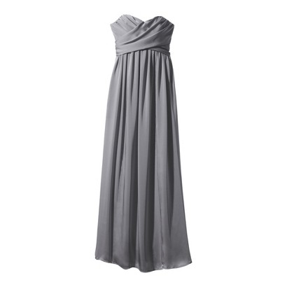 TEVOLIO™  Women's Satin Strapless Maxi Dress - Neutral Colors