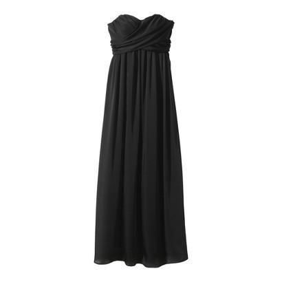 Women's Satin Strapless Maxi Bridesmaid Dress Neutral Colors - TEVOLIO&#153