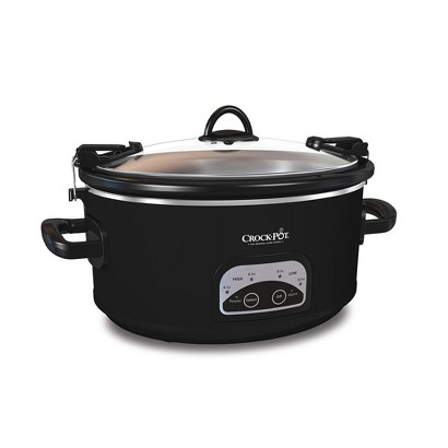 CROCK-POT® PROGRAMMABLE 6 QUART SLOW COOKER - BLACK
