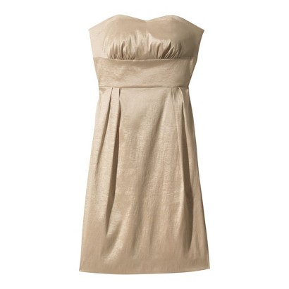 Strapless Sweetheart Shantung Dress - Assorted Colors