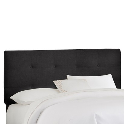 Dolce Button Tufted Linen Headboard - Black