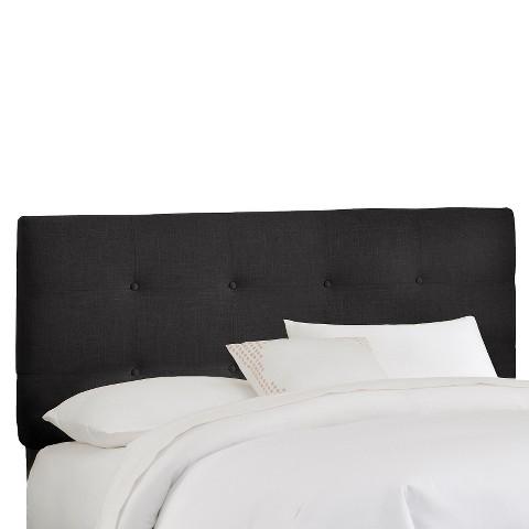Dolce Button Tufted Linen Headboard - Black