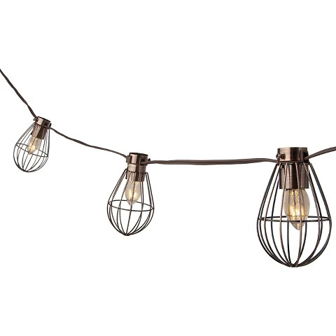 Smith & Hawken® Caged Lantern String Lights
