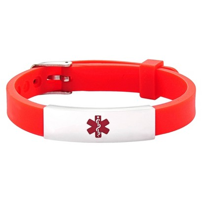 Hope Paige Red Durable Rbbr Watch Band Buckle-Red - 6-9