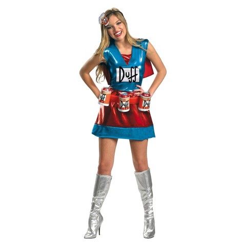 Women's The Simpsons - Duffwoman Deluxe Costume