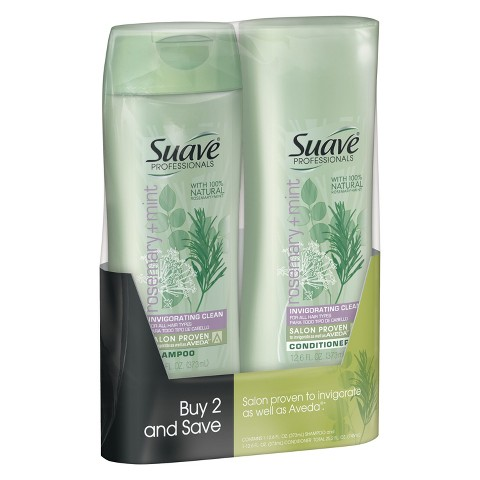 Suave Rosemary Mint Shampoo & Conditioner 12.6 oz, Pack of 2