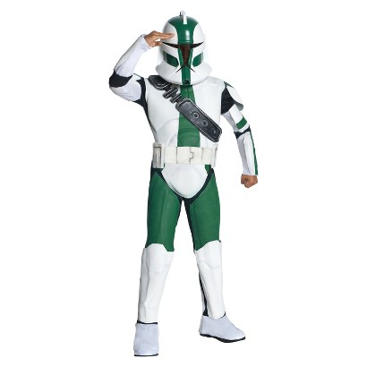 Boy's Star Wars The Clone Wars - Clone Trooper Commander Costume