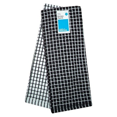Room Essentials™ Grid Kitchen Towel 2-pack - Black