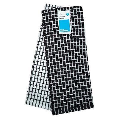 Room Essentials™ Grid Kitchen Towel 2-pack - Black