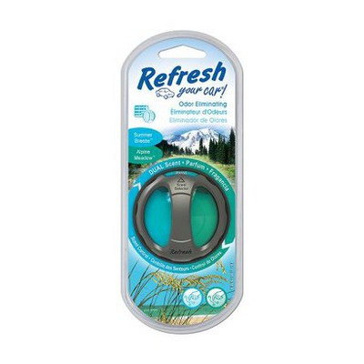 Refresh Your Car! Summer Breeze/Alpine Meadow Odor Eliminating Dual Scent Diffuser