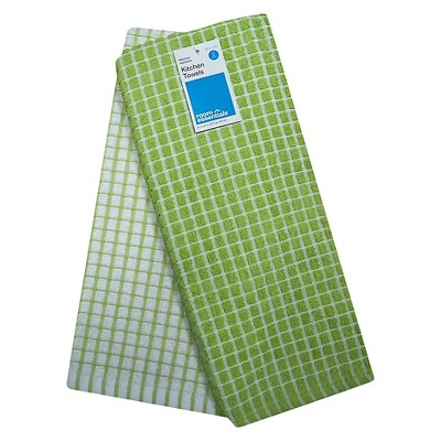 Room Essentials™ Grid Kitchen Towel 2-pack - Green