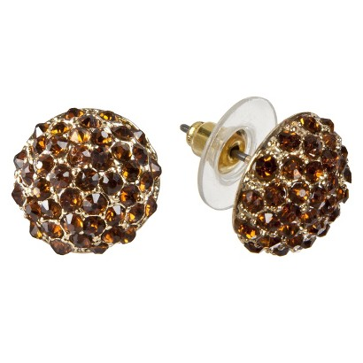 ELEMENTS Gold EAR TOPAZ    POST EAR W/GLS TPZ STN
