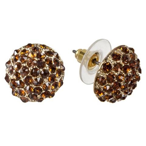 ELEMENTS Gold EAR TOPAZ    POST EAR W/GLS TPZ STN