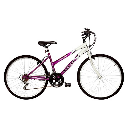 "Titan Womens Wildcat 26"" Mountain Bike - White/Lavender"