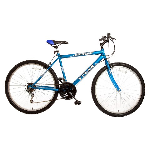 "Titan Mens Pioneer 26"" Mountain Bike - Blue"