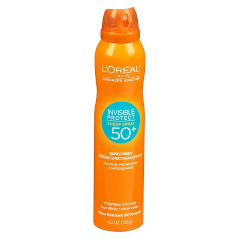 L'Oreal® Paris Advanced Suncare Invisible Protect Sheer Spray SPF 50+ - 4.2 oz