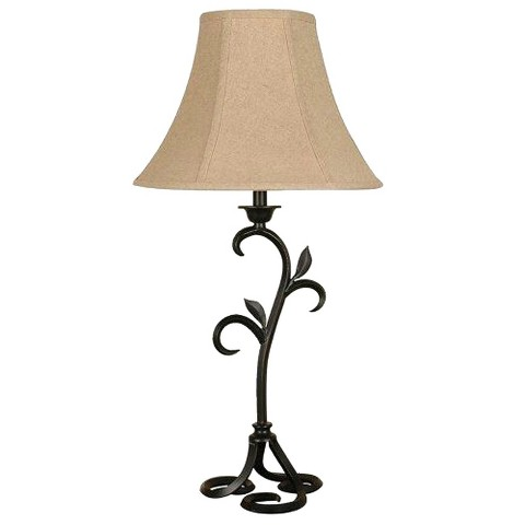 Iron Leaf Curve Table Lamp (Includes CFL Bulb)