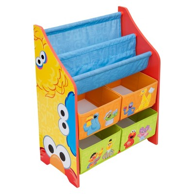 Delta Children Character Book and Toy Organizer - Sesame Street