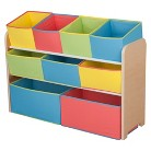 Delta Children's Products Deluxe Toy Organizer with Bins - Colorful