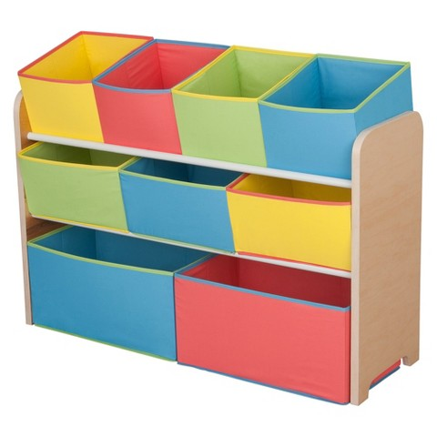 Delta Children Deluxe Toy Organizer with Colorful Bins
