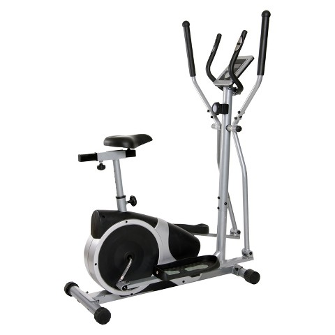 Body Champ Silver/Black Magnetic Cardio Dual Trainer Exercise Bike