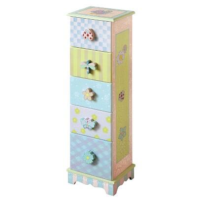 Teamson 5 Drawer cabinet crackle finish