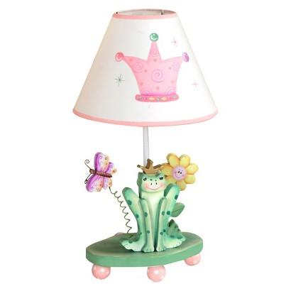 Teamson Kids Crown Table Lamp - Princess and Frog