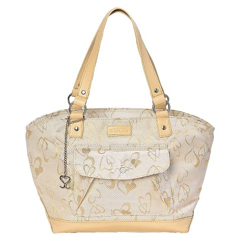 Sachi Cream Hearts Insulated Lunch Tote - Multicolored