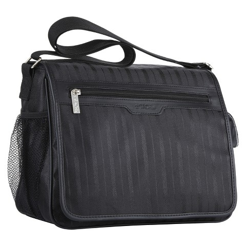 Sachi Messenger Insulated LunchTote - Black