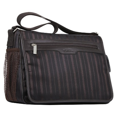 Sachi Brown Messenger Insulated Lunch Tote