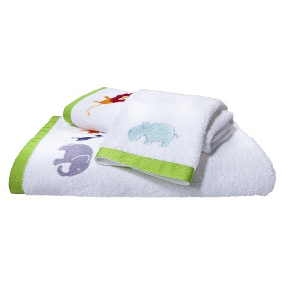 Hippo 3 Piece Towel Set