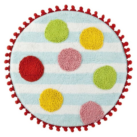 Fantastic Plush Fabric Cushions Your Feet For Pure Comfort, Waterabsorbent Construction Ensures Lasting Quality Machine Tufted, 100% Cotton With An Antiskid Spray Latex Back Set Includes One24&quot Round Bath Rug And One30&quot Bath Rug