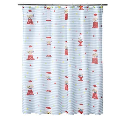 """Gumball Machine Shower Curtain - 70x71"""""""