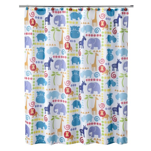 Hippo Shower Curtain - 70x71""