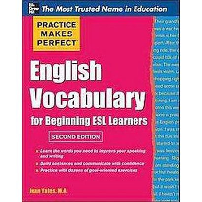 English Vocabulary for Beginning Esl Learners (Paperback)