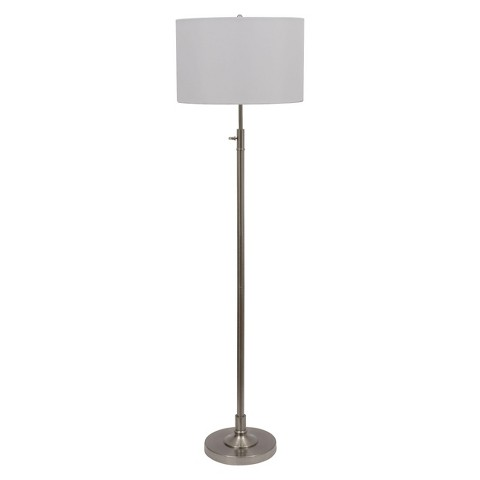 "Adjustable Floor Lamp - Silver (61.5x10"")"