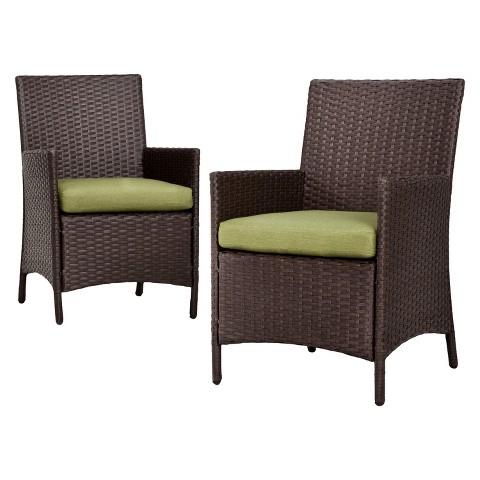 Thornquist 2 Piece Wicker Patio Dining Chair Set Tar