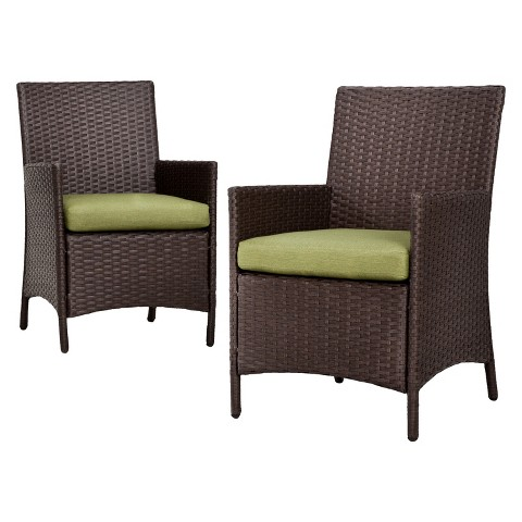 Thornquist 2-Piece Wicker Patio Dining Chair Set