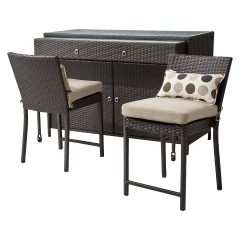 Atlantis 3-Piece Wicker Patio Bar Set